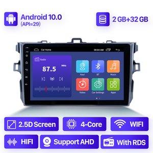 Android 10.0 2 + 32G Car DVD Radio Audio para TOYOTA COROLLA E140 E150 2006-2013 Navegación GPS Video Multimedia Player 2 DIN
