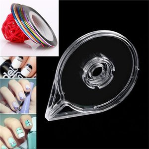 Nail Art Equipment Gold Silver Striping Tape Case Line Box Strip Holder Clear 3D Decoration Stickers Roll Empty Boxes