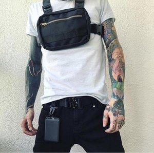 Маленький хип-хоп уличная одежда жилет военный сундук для мужчин Функциональная талия пакеты регулируемые карманы мода мода