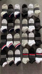 Black White Gray Socks Boys and Girls Fashion Four Seasons Ankle Cotton Casual Sweat Absorption Skin Comfortable