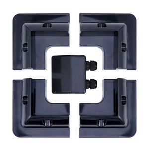 Parts 5Pcs ABS Plastic Solar Panel Holder For RV And Yacht Junction Box System Terminal (Black)