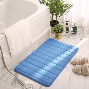 Memory Foam Bath Mat Carpets Comfortable Super Water Absorptio Non-Slip Thick Easier to Dry for Bathroom Floor Rugs OWA8955