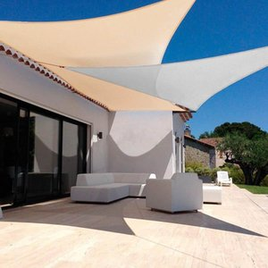 Shade Waterproof Awning Sunshade Triangle Zonnescherm Sun Sail For Outdoor Garden Beach Camping Patio Pool Shelter Canopy