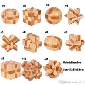 IQ Cérebro Teaser Kong Ming Lock 3D Jogo Brinquedo De Madeira Interlocking Burr Quebra-cabeças Para Adultos Crianças