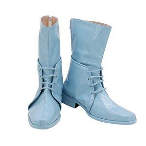 JoJo's Bizarre Adventure: Battle Tendency Caesar Anthonio Zeppeli Blue Cosplay JOJO Shoes Long Boots Custom Made