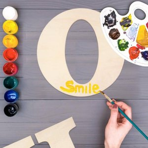 Novelty Items Arts Home Decoration Wall Door Ornaments Wedding Blank Paintable DIY Wood Craft Unfinished Alphabet 30CM Wooden Letters