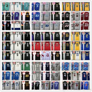 Ciudad de baloncesto cosido 2 camisetas de bola de lamelo Damian Jayson Lillard Tatum Kevin James Durant Harden Devin Jimmy Booker Butler Ja Luka Morant Doncic Ganed Edition
