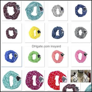 Other Textile Textiles Home & Garden Women Infinity With Zipper Pocket Lightweight Arrow Star Elk Print Ring Scarves Storage Bib Christmas P