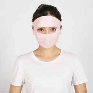 FactoryTPT9protection men in Sun spring and summer scarf neck women's cover face ice silk cotton mask women