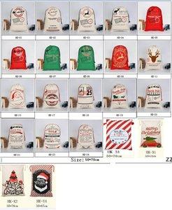 Christmas Halloween Gift Bag New Canvas Large Storage Bags Santa Reindeers Drawstring Candy Bag Christmas Party Wedding by sea HWB10527