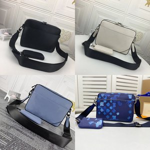 Luxurys Messenger Bag Mens Designers Shoulder Crossbody Bags 2 Piece Set Fashion Embossing Leather Man With wallet Handbag Daily Storage Mini Coin Purse