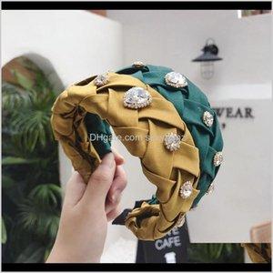 Barrettes Vintage Braided Rhinestone Pearl Hairbands For Women Turban Jewel Headband Girls Clips Hair Accessories Haar Headwear 7W6Xu Id3Ho