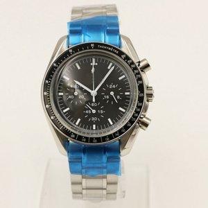 Marca Cronógrafo al aire libre Reloj de cuarzo Batería Moonwatch Professional Mens Relojes Deportes Hombre Muñeca Redonda Dial Negro