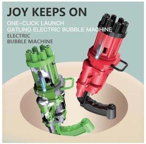 DHL Kids Automate Gatling Bubble Gun Toys летнее мыло для воды 2-в-1 электрический для детей подарок FY4627 см31