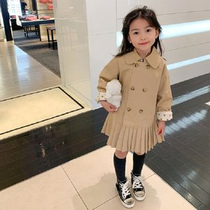 INS Little Girl Tench Coats Dresses Cotton Winter Stylish Fashions Polka Dot Outwear Autumn Kids Boys Gilrs Coat for 1-6T Z2803