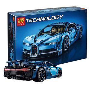 Bugatti building blocks 68001 sports car assembly model technology series mechanical boy toy puzzle 42083 wholesale