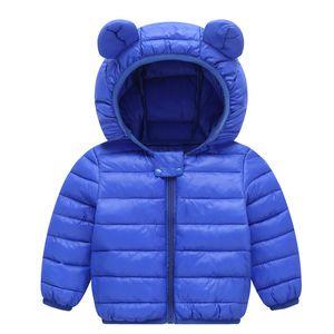 Enfants Down Hoodies Coatings Coton Briquet Zipper Nouvelle Technologie à manches longues Toddler Bébé Bébé Baby Girl Girls Veste Néguier Manteau de Neige 22 Y2