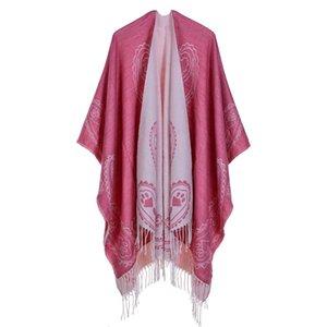 Luxury Brand scarves shawls Tassels Pashmina For Women Fashion Lady Imitation Cashmere Shawls Autumn Winter Classic Ethn