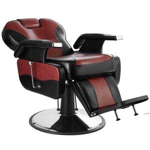 WACO Hand Hydraulic Recline Tattoo Chair Salon Barber Hair Stylist Heavy Duty Shampoo Beauty Salon Equipment - Red&Black SEA WAYFWD10237