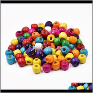 Wholesale 200Pcs Wood Mixed Round Charm Spacer Beads 12Mm 2N1Mz Ywdku