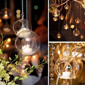 6 8cm Glass Candle Holder Hanging Tealight 6 8 10 12cm Globes Terrarium Wedding Candles Candlestick Vase Home Bar Decor