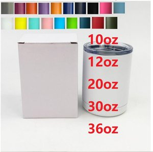 36oz water bottle 30oz 20oz 14oz 12oz 10oz mugs cold wine tumbler insulated coffee mug 128 colors avialble