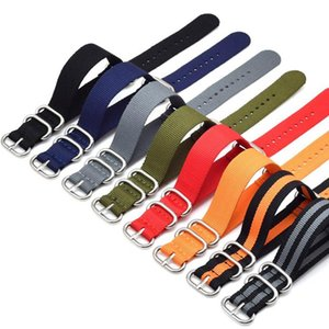 Watch Bands Fashion Strap For Men 8 Colors Premium Nylon NATO Stainless Buckle Canvas 20mm,22mm,24mm