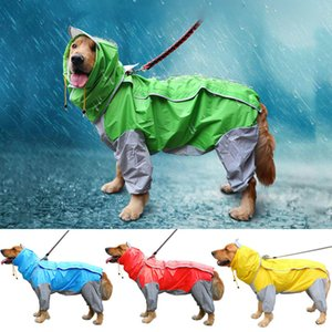 Waterproof Dog Raincoat Pet Large Dog Rain Coat Puppy Jumpsuit Hooded Overalls Winter Clothes For Dogs Golden retriever Labrador