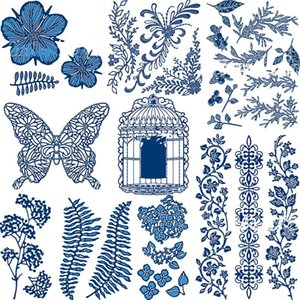 Painting Supplies Flower Grasses Animals Nature Metal Cutting Dies Stencil For Scrapbooking Embossing DIY Paper Card Handcrafts