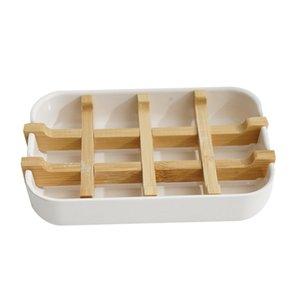 Yeni SOAP Çanak Kutusu Ahşap Plastik Kutu Çanak Kılıfı Konteyner Kutusu Banyo Seyahat Için Taşıma Çantası DHB5419 581 S2