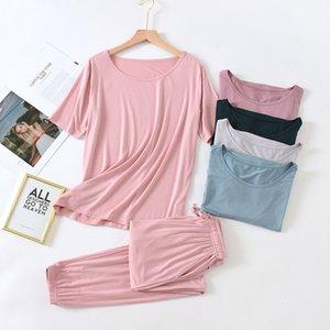 Conjunto Pijama Otoo Mujer, Ropa Casa de Modal, Traje Para Casa, Otoo, Transpirable