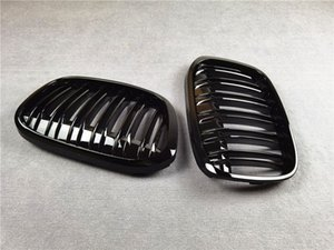 F48 Glossy Black Front Grille Kidney Grill Grills For BMW X1 F49 2016-2019 ABS Material 2-Slat Mesh Grilles Car Styling