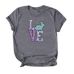 Womens Love Tshirt Plus Size 5XL Cute Adorable Easter Sunday Tee For Ladies O-Neck Short Sleeve Tops Clothes A20 Women's T-Shir T-Shirt