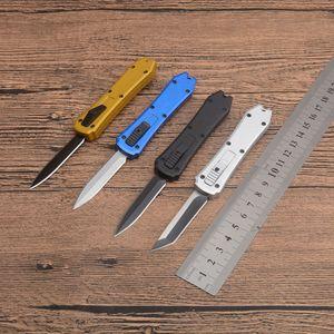 BM MT 3300 Small Auto Tactical Folding Knife 440C Blade Aluminum Handle Outdoor Camping Hunting Survival Pocket Utility EDC Tools Self Defense