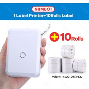 Printers Niimbot D110 Mini Bluetooth Thermal Label Maker Printer With Self Adhesive Paper Roll 14x22mm Production Date Name Tag Labels