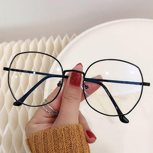 Anti Anti Blue Light Fadiga Radiação Computador Eyeglass Curto Versão Feminina Versão Coreana Potência Plana Pode Proteger os Óculos de Sol dos Olhos