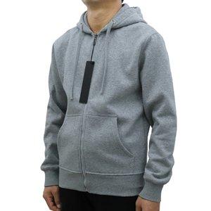 New Style Mens Hoodies Zipper Hooded Sweatshirt Cardigan Hoodie Standard And Fleece Casual Jumpers Long Sleeve Sportswear Streetwear Man Clothing