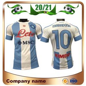 Spieler Version 20/21 Napoli Gedenken von Maradona Fussball Jerseys 2021 Viertel weg Mertens Maillots de Football Hamsik Milik Fußhemd