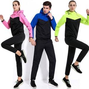 Two Pieces Set Women&men Suits Hooded Sweatshirt Outdoor Workout Clothes Couple Sports Yoga Running Burst Sweat Suit Sportswear Women's Piec
