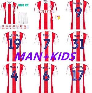 Stoke City Home 21 22 كرة القدم جيرسي ماككلان كلين فوكس سميث 4allen إدواردز كامبل 2021 2022 كرة القدم قميص الرجال أطقم