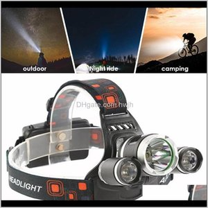 Headlamps 20000Lm Headlight Super Bright Bicycle Bike Durable Headlamp Torch Lamp Sporting Goods Portable Yzn5A Xjelb