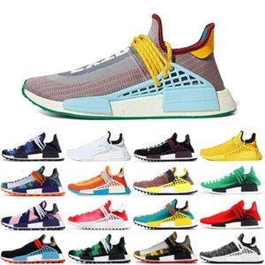 2021 HU zusätzliches Auge Pharrell Herren Menschliche Rasse BBC Orange Stiefel Schuhe Williams Solar Pack Blue Nerd Inspiration Solar Sports Runner Sneakers