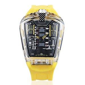 Kimsdun Watch Homens Únicos Tendência Cool Quartzo Impermeável Silicone Top Marca Moda Luxo Relógio Horário 2021 relógios de pulso