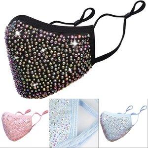 Fashion BlingBling Diamond Designer Luxury Mask Washable Reusable Adult Rhinestones Mascarillas Protective Face Masks Adjustable GWF10628