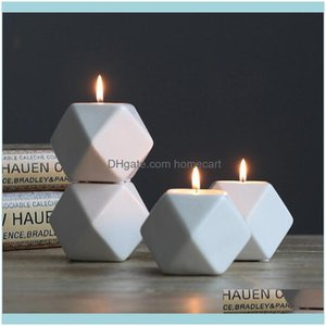 Holders Décor Home & Gardencandlestick Ceramic Candle Holder Ornaments Nordic Romantic Candlestick Gifts Candlelight Dinner Wedding Decro Dr