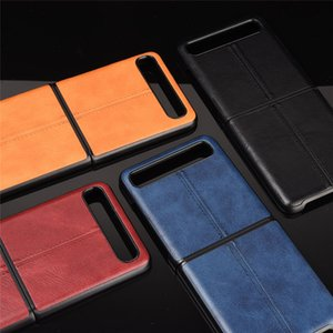 z Samsung Flip Galaxy Folding Screen Cover Zflip Car Line Calf Design Mobile Phone Protective Case Split Type