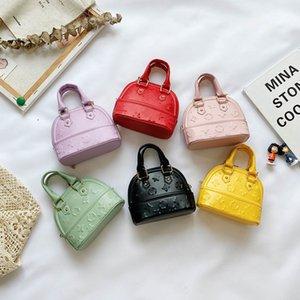 Kids Children Shell Handbag PU Leather Baby Girl Shaped Slant Cross Messenger Bag Mini Cute Zero Wallet Purses Dinner Party Bags 2354 Y2