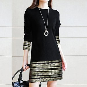 Fashion Office Lady Dresses Elegant Splice Casual Long Sleeve Short Dress O-neck Vintage Tight Mini Kleider Damen #GH