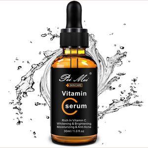 30ml Vitamin C Facial Serum Whitening Brightening Moisturizing Improve Roughness Lighten Spots Hyaluronic Acid Facial Essence