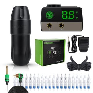 Dragonhawk Mast Top Tattoo Machine Set Kit Motor Rotary Pen Makeup Power Supply Guns Kits